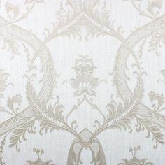 In Taupe /& Silver Fine Decor Luxury Milano Damask Glitter Wallpaper M95560