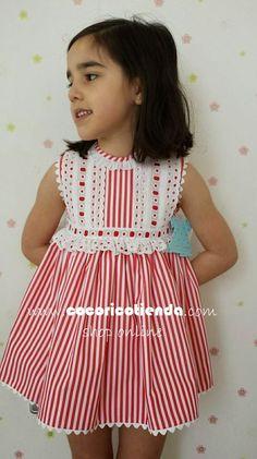 cocorico moda infantil Más Kids Dress Wear, Little Dresses, Little Girl Dresses, Girls Dresses, Toddler Fashion, Kids Fashion, Baby Girl Dress Patterns, Baby Sewing, Toddler Dress