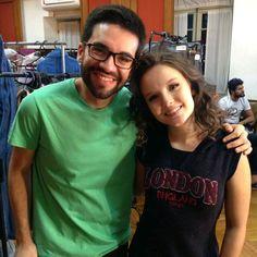 Bruno Carmelo Visitou set de gravacoes de #meus15anosofilme e encontrou Larissa Manoela 👧✨. Lindosss 😍😍😍😍. Via Instagram 📷