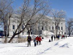 Situé à l'entrée des Plaines, à Québec. Le MNBAQ, l'hiver... Photo: KEDL