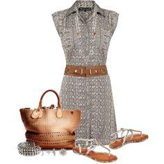 Shirt Dress, created by johnna-cameron on Polyvore