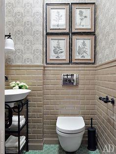 Metro tiles / subway tiles / плитка кабанчик / bathroom / ванная / санузел / toilet / туалет