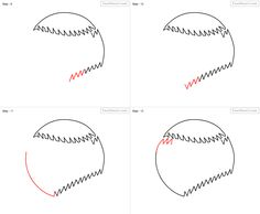 How to draw Baseball for kids - slide 3 - Click to enlarge