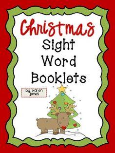 Christmas Sight Word Books {FREEBIE!}