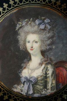 Close-up miniature of Princesse de Lamballe