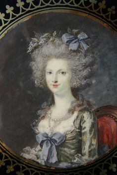 Close-up miniature of Princesse de Lamballe
