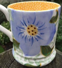 Pottery Emma Bridgewater Half Pint Mug Indian Spongeware Collectors Sample Day Lynsey 100% High Quality Materials Bridgewater