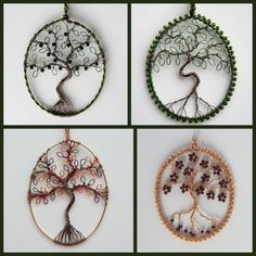 Custom Tree of Life pendant (oval) wire-worked and beaded if desired