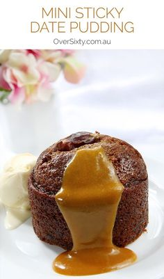 Mini Sticky Date Pudding with Caramel Sauce Recipe - this dessert classic is mouthwatering and hot and melt-in-your-mouth deliciousness. Don't resist.