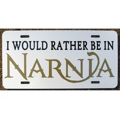 C. S. Lewis Chronicles of Narnia Car Tag License Plate by eaton, $12.00