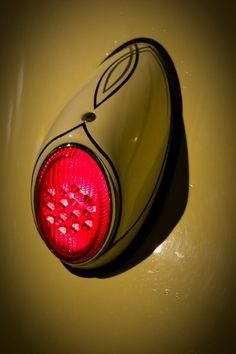 Pinstriped early tail light - A thing of beautiful simplicity