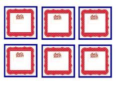 FREE printable 4th of July food tags