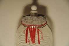 collarino SAKI - cod. 01 - au crochet neckband SAKI  au crochet http://www.lacortevenezia.it/