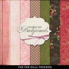 New Freebies Romantic Backgrounds Kit | Far Far Hill | Bloglovin'