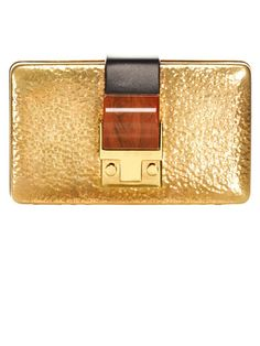 Lanvin gold clutch