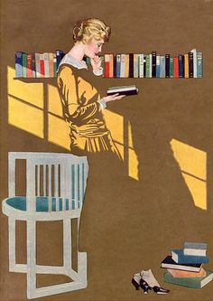 illustration work by Coles Phillips from www.designworklife.com -- love everything about this image