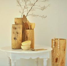 hollowed out vases
