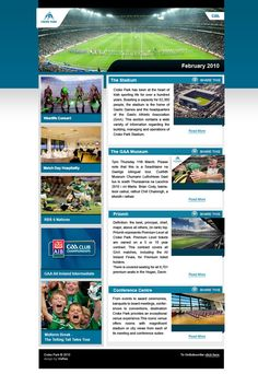Croke Park by Andrew Dewdney , via Behance Croke Park, Corporate Presentation, Web Design, Behance, Concert, Day, Design Web, Concerts, Website Designs