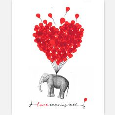 "Erin~ ""Love Carries All... Even an Elephant"" Print"