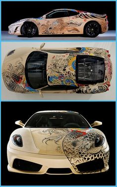 """WHAT""""D YOU DO TO YOUR FERRARI????? YOU RUINED IT!!!   (for all you non-car-people, a Ferrari comes out of the factory perfect as is. any modifications ruin it.)"""