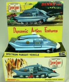 In my opinion, the grand cru of dinky toys; Captain Scarlet Spectrum Pursuit Vehicle, Dinky, 1969