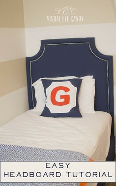 Visual Eye Candy: How To Upholster A Headboard