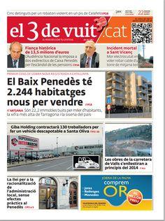 Portada d'El 3 de vuit del 22 de febrer del 2013 - Edició Baix Penedès