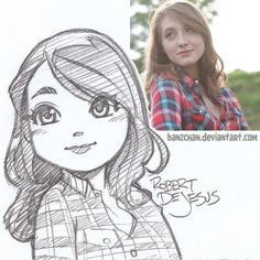 Mutedfae sketch.My current portrait commission information.