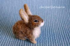 Needle felted baby bunny by SaniAmaniCrafts.deviantart.com on @DeviantArt