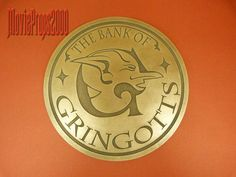 Harry Potter Gringotts bank logo sign prop
