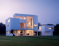 Richard Meier, My Dream Home, Modern Architecture, The Hamptons, Exterior, Mansions, House Styles, Modern Homes, Home Decor