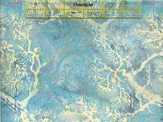 Glacier - Hoffman Bali Batik Handpaints Thorns & Sprigs - Retired