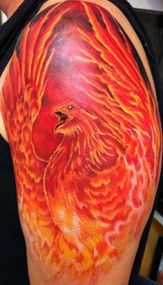 Phoenix - bright tattoo's are so cool.