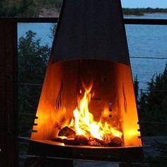 Resultado de imagem para fireplace and barbecue type corten steel