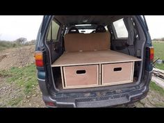 I wanted to make my van in to a camper but i did not want to lose the rear seats and i wanted to be able to take the bed out so i could still use the full si. Van Conversion Parts, Camper Van Conversion Diy, Motorhome Interior, Campervan Interior, Delica Van, Car Camper, Campers, Van Design, Van Living