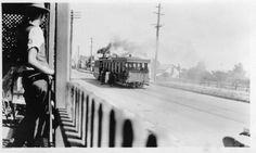 Steam tram, North Parramatta 1920. Parramatta, History NSW