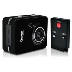 Gear Pro HD 1080P Action Camera Hi-Res Digital Camera/Camcorder with Full HD Video, 12.0 Mega Pixel Camera & 2.4'' Touch Screen (Black Color)