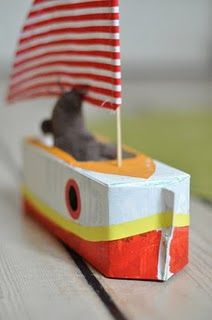 how to make a boat from a milk carton