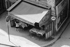 Pour les 40 ans de Beaubourg, la galerie Michèle Chomette expose les œuvres du photographe Marc Petitjean. Quand le quartier vivait encore autour de ses petits restaus populaires...