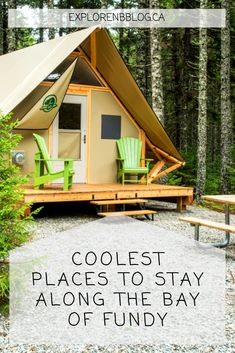 The world's highest tides are the main event, but these awesome accommodations are a close second. East Coast Travel, East Coast Road Trip, Tree House Accommodation, Oh The Places You'll Go, Places To Visit, East Coast Canada, Architecture Classique, Ontario Parks, Ontario Travel