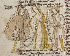 Thomasin <Circlaere>   Welscher Gast (b) Nordbayern (Eichstätt?), um 1420 Cod. Pal. germ. 330 Folio 12v