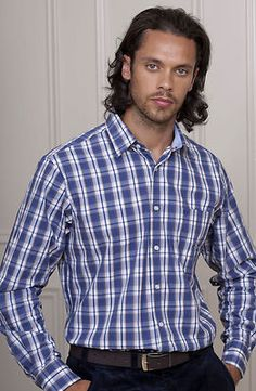 Gorgeous crisp clean Cotton Plaid Shirt for Men by Vedoneire. £29.99 and comes in sizes M to 3XL.