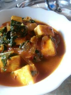 Classic palak paneer ( a spinach and Indian cheese curry)