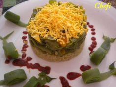 Judias verdes con arroz blanco. Ver receta: http://www.mis-recetas.org/recetas/show/28492-judias-verdes-con-arroz-blanco