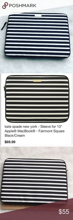 """‼️ONE DAY SALE‼️Kate Spade laptop sleeve Work and travel have never looked better with the kate spade new york sleeve for 13"""" laptop. Compatible with many 13"""" laptops, the sleeve is scratch-resistant and easy to clean.🖤BRAND NEW NEVER USED🖤🚫NO TRADES LOW BALL OFFERS GET BLOCKED🚫 kate spade Accessories Laptop Cases"""
