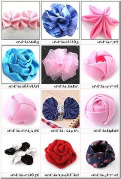 Lots of Ribbon Flowers Tutorials by Gaberi Ribbon