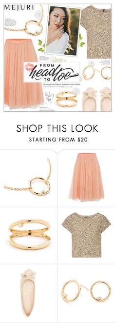 """Grace: Jen Chae x Mejuri"" by leinapacheco ❤ liked on Polyvore featuring Needle & Thread, Alice + Olivia, Qupid, Hedi Slimane, contestentry and jenchaexmejuri"