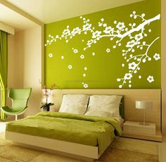 Cherry Blossom Branches Flower Wall Decals – WallDecalMall.com