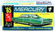 RARE AMT '65 HT MERCURY Plastic Model Car Kit #6325-150 1:25 SCALE 3 in 1 Comp…
