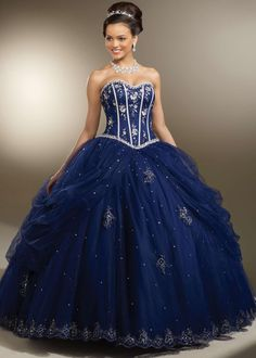 Free shipping on Vizcaya by Mori Lee 87093 blue strapless quinceanera dresses available now at RissyRoos.com.